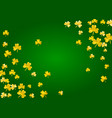 shamrock background for saint patricks day vector image
