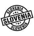 Slovenia black round grunge stamp