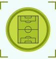 soccer field color icon vector image