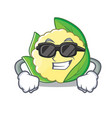 super cool cauliflower character cartoon style vector image vector image