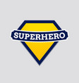 superhero badge logo super hero shield man vector image vector image