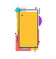 template colored frame for social media memphis vector image