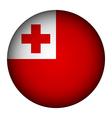 Tonga flag button vector image vector image