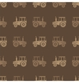 Tractor Icon Seamless Pattern for Farm vector image vector image