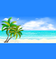 tropical seascape with palm trees vector image