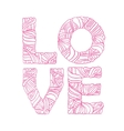 Valentine day hand drawn love typography Doodle vector image
