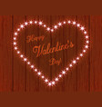 valentines day heart made of lights vector image vector image