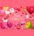 valentines day love hearts gifts wedding ring vector image vector image
