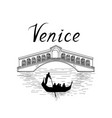 venice famous place view travel italy background vector image vector image
