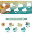 weather icons in crystal effect vector image