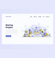 web design flat modern concept - startup project vector image