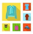 woman and clothing symbol vector image