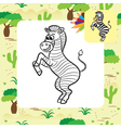 zebra coloring page vector image