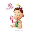 zodiac sign Virgin BabyGirl enjoys makeup vector image