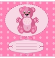 baby girl greeting card background vector image
