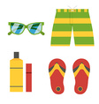 Summer Beach Accessories Icons vector image