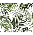 seamless pattern palm leaves hand drawn vector image