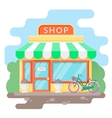 Shop flat vector image