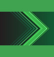 abstract green light arrow direction on dark vector image vector image