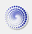 abstract technology circles sign new year vector image vector image