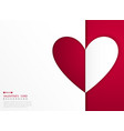 abstract valentines day card of heart red and vector image