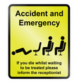 accident and emergency vector image vector image