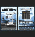 airline airplanes and airport aircraft and travel vector image