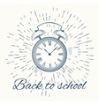 Alarm cloack with text Back to school vector image vector image