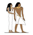 Ancient egypt family vector image
