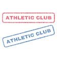 athletic club textile stamps vector image vector image
