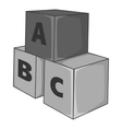 Baby cubes icon gray monochrome style vector image vector image