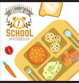 back to school horizontal banner education vector image vector image