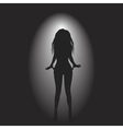 background with woman silhouette vector image