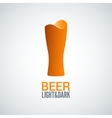 beer glass logo design background vector image vector image