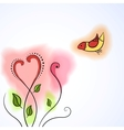 Bird and Flower vector image