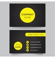 Business card template yellow and black pattern vector image vector image