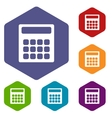 Calculator rhombus icons vector image vector image