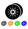 cardano coins icon vector image