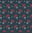 christmas seamless pattern on dark background vector image