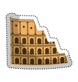 coliseum roman isolated icon vector image vector image