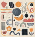 collection abstract shapes and geometric vector image
