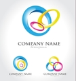 Colorful Circles Logo vector image
