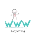 copywriters is on the letters www vector image vector image