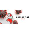 covid19-19 pandemic concept covid19 molecule vector image vector image
