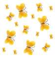 cute yellow butterfly seamless pattern vector image