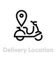 delivery location icon editable line vector image