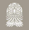 eagle totem tattoo vector image