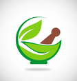 eco herbal traditional medicine logo vector image