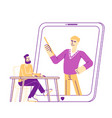 electronic library computing reading male vector image