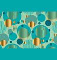 elegant style circle geometry seamless pattern vector image vector image